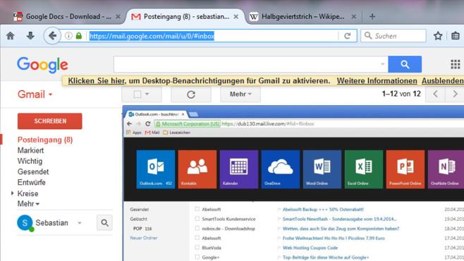 Outlook.com und Gmail: Digitalen Postverkehr bewerkstelligen ©COMPUTER BILD