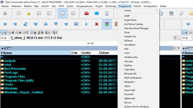 Total Commander Ultima Prime: Dateien verwalten ©COMPUTER BILD