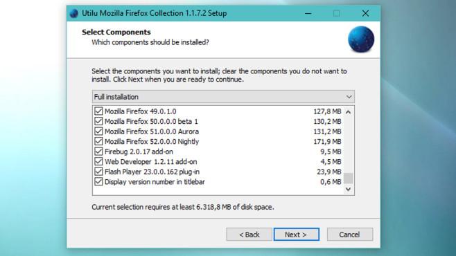 Utilu Mozilla Firefox Collection: Nostalgische Test-Kollektion ©COMPUTER BILD