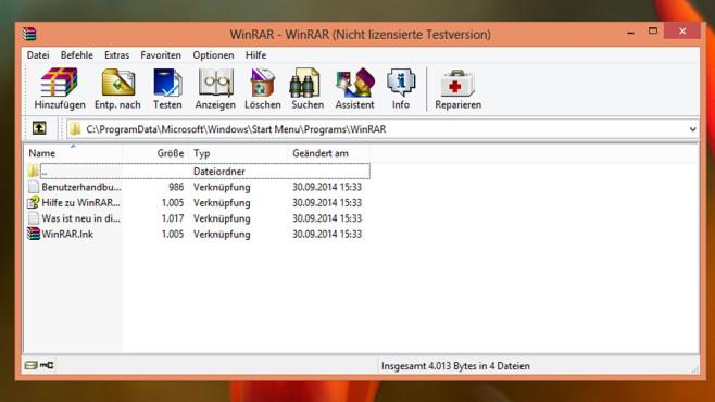 WinRAR: Archivdateien erzeugen oder öffnen ©COMPUTER BILD