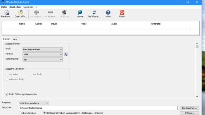 XMedia Recode: Audio und Video konvertieren ©COMPUTER BILD