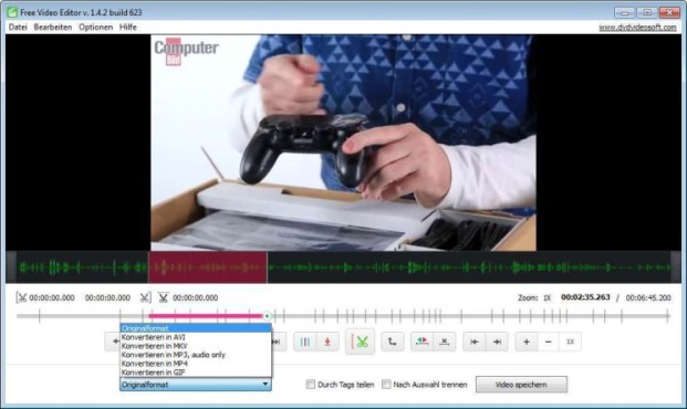 Free Video Editor ©COMPUTER BILD