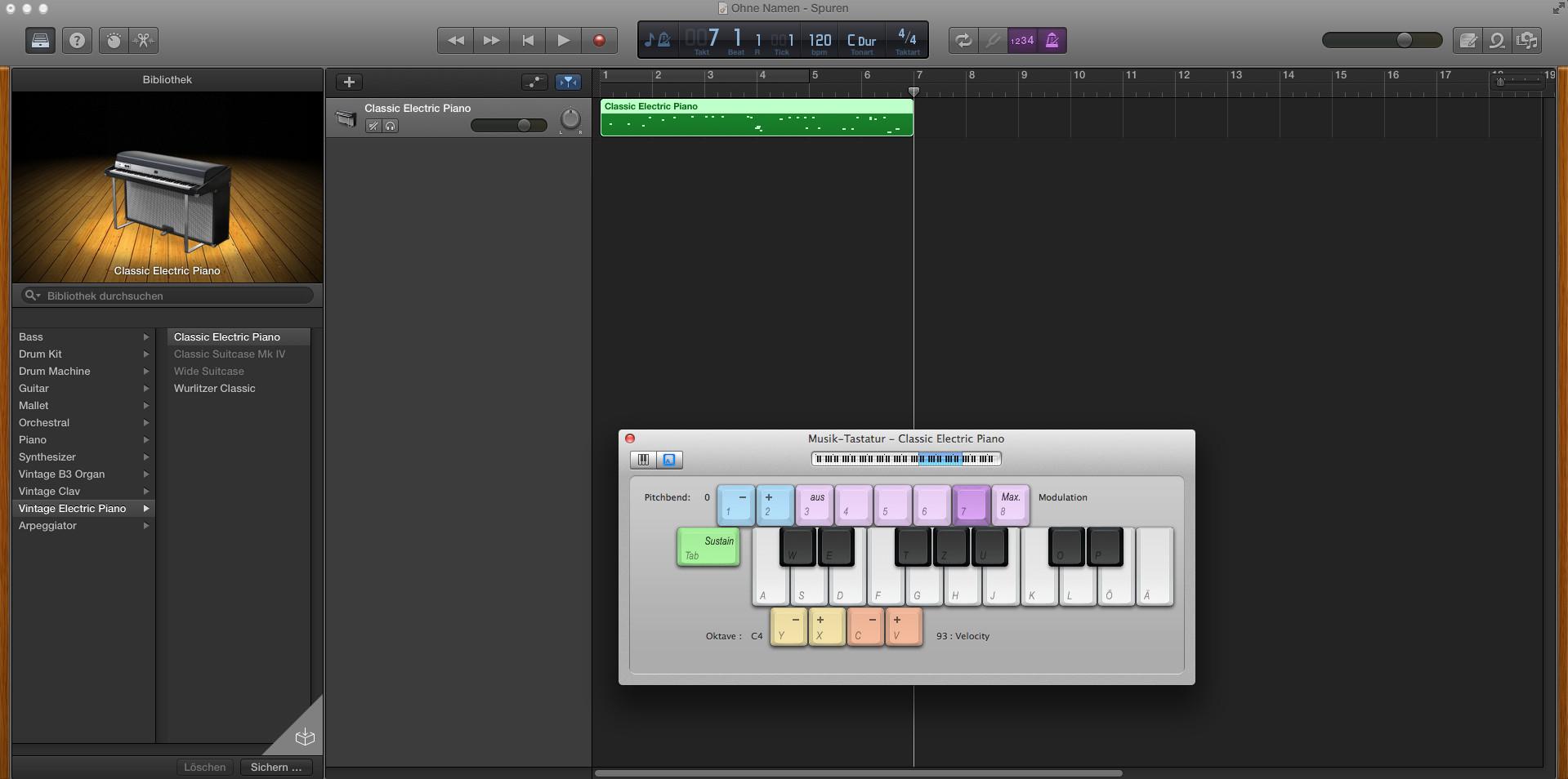 Screenshot 1 - GarageBand (Mac)