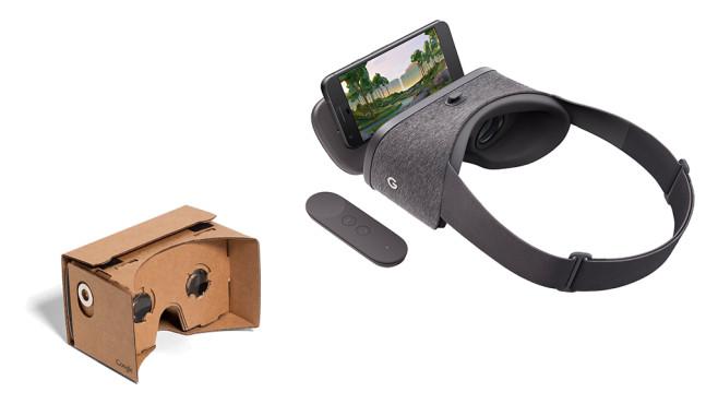 Google Daydream View und Cardboard©Google