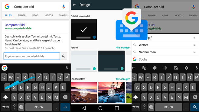 Google-Tastatur ©Google