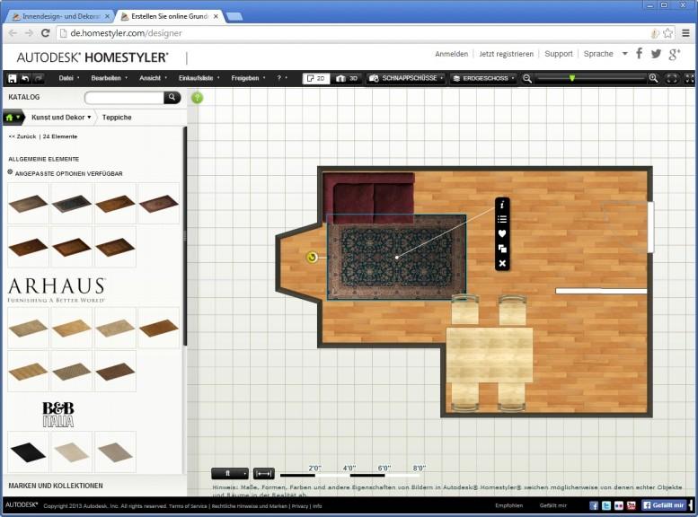 Screenshot 1 - Autodesk Homestyler
