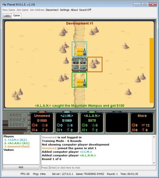 Screenshot 1 - Planet M.U.L.E.