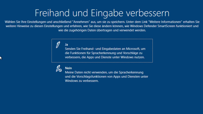 Windows 10: Eingabedaten © COMPUTER BILD