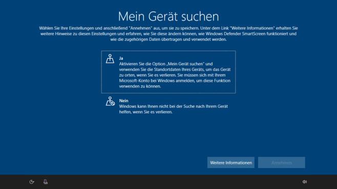 Windows 10: Gerät suchen ©COMPUTER BILD