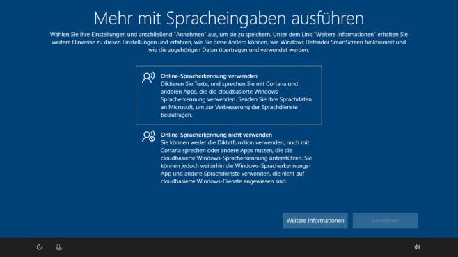 Windows 10: Online-Spracherkennung ©COMPUTER BILD
