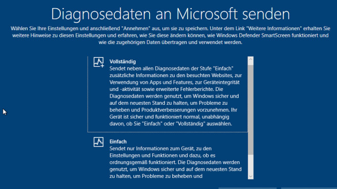 Windows 10: Telemetrie-Daten © COMPUTER BILD