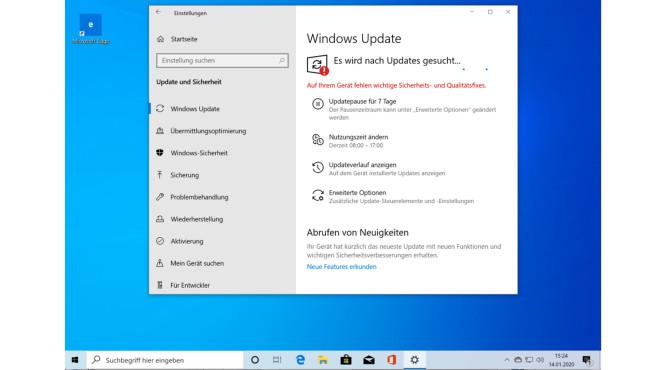 Windows 10: Updates suchen ©COMPUTER BILD