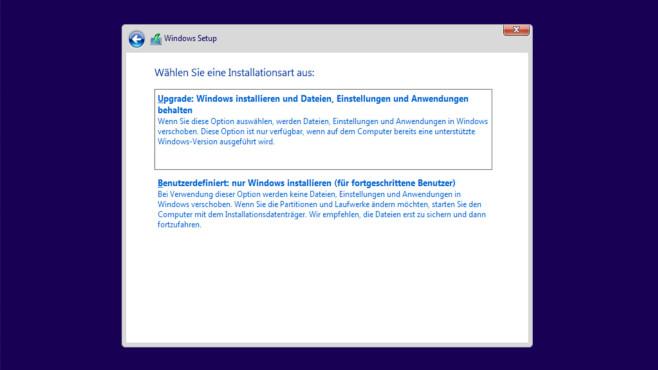 Windows 10 installieren ©COMPUTER BILD
