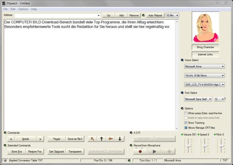 Screenshot 1 - DSpeech