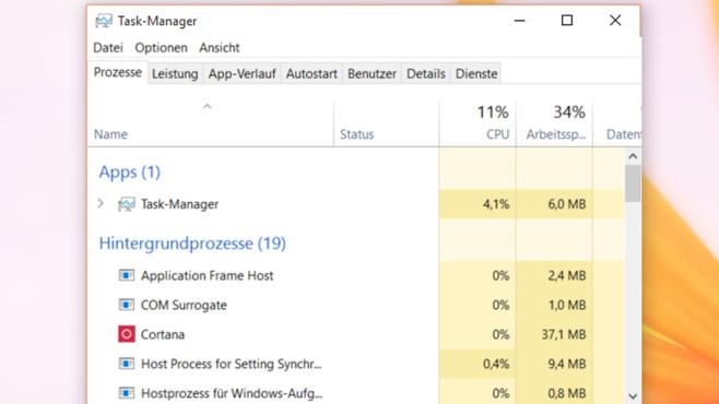 Task-Manager ©COMPUTER BILD