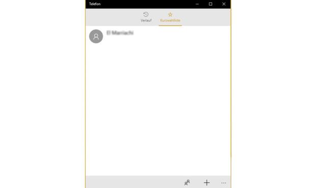 Telefonieren unter Windows 10 ©COMPUTER BILD