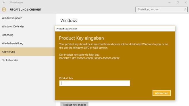 Windows 10 aktivieren ©COMPUTER BILD