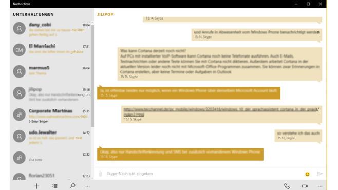 Windows 10 als Kommunikationszentrale ©COMPUTER BILD