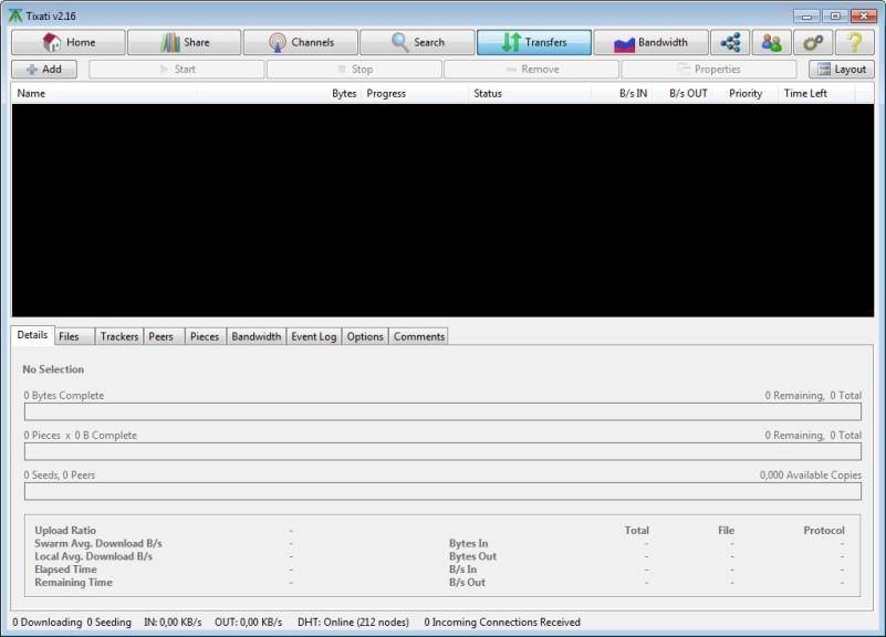 Screenshot 1 - Tixati