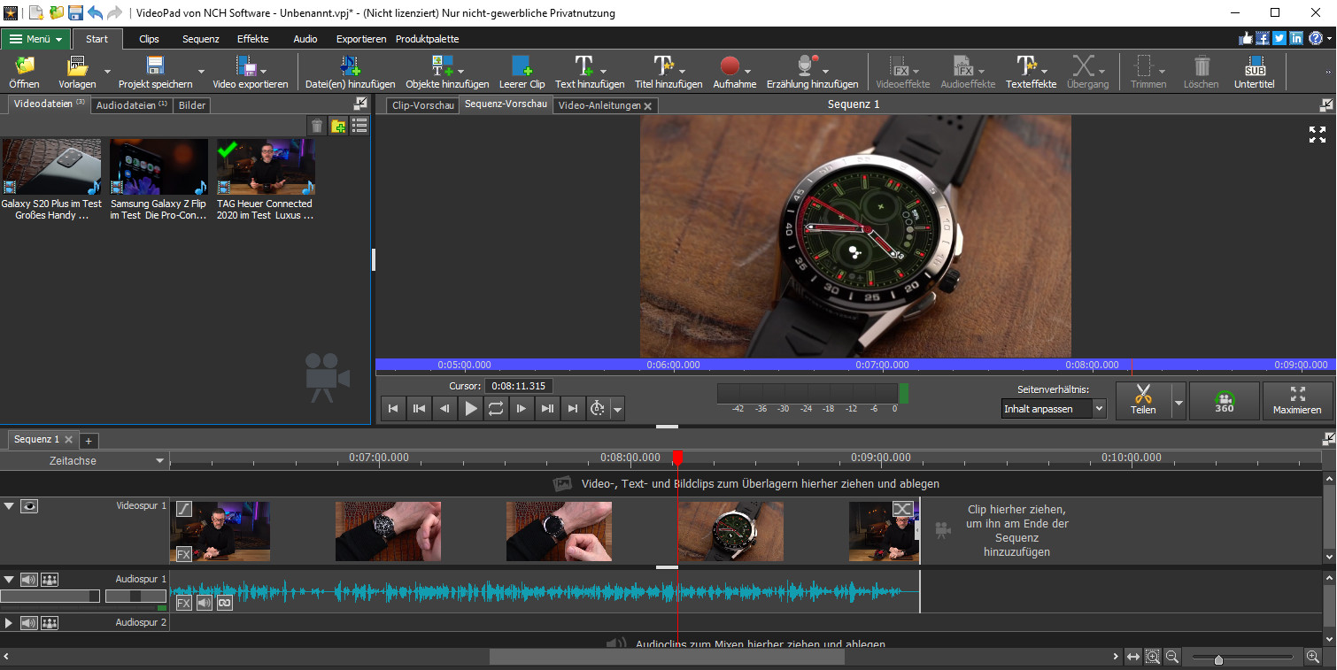 Screenshot 1 - VideoPad Video-Editor