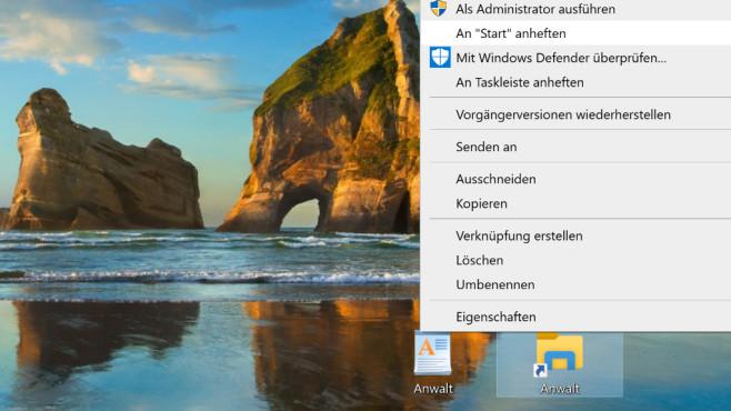 Apps auf dem Startmenü auf den Desktop ziehen ©COMPUTER BILD