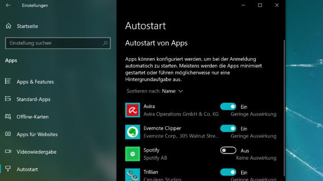 Autostart über eine App aufräumen ©COMPUTER BILD