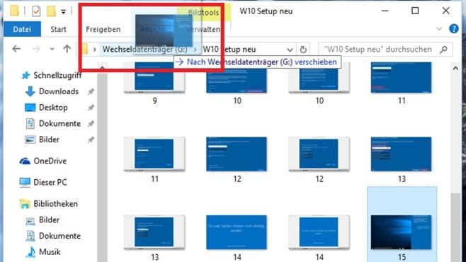Dateien per Adressleiste verschieben ©COMPUTER BILD