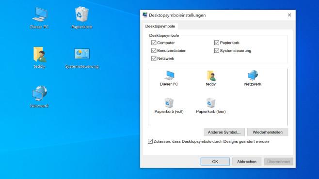 Desktop-Symbole einblenden ©COMPUTER BILD