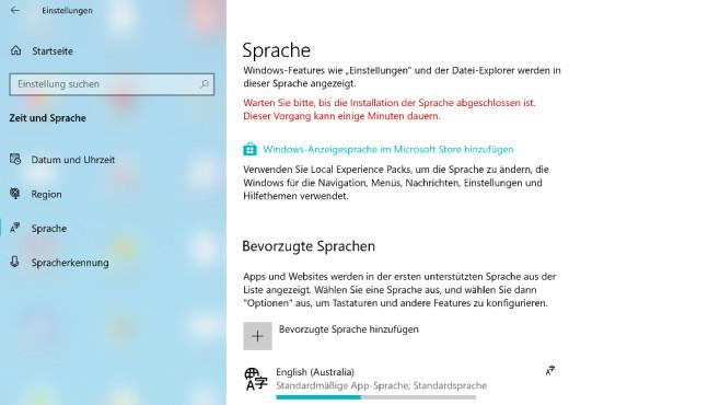 Systemsprache kostenlos ändern ©COMPUTER BILD