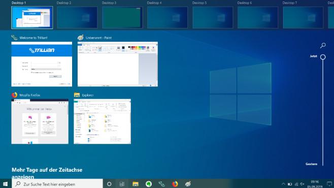 Virtuelle Desktops erstellen ©COMPUTER BILD