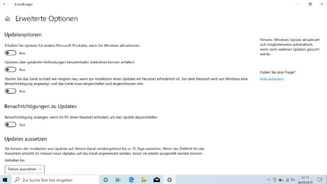 Windows Update konfigurieren ©COMPUTER BILD