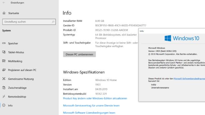 Windows-Version kontrollieren ©COMPUTER BILD