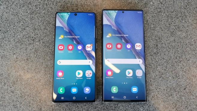 Samsung Galaxy Note 20 vs Galaxy Note 20 Ultra©COMPUTER BILD / Michael Huch