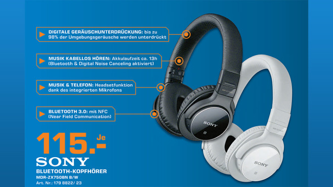 Sony MDR-ZX750 ©Sony