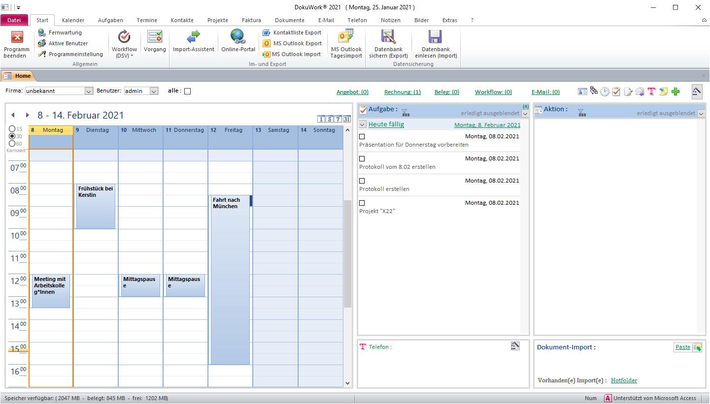 Screenshot 1 - DokuWork