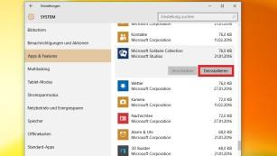 Windows 8.1/10: So ermitteln Sie die Apps, die viel Speicherplatz fressen Anders als beim Vorgänger, sind bei Windows 10 verschiedene Anwendungstypen gebündelt.©COMPUTER BILD