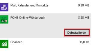 Windows 8.1: So ermitteln Sie die Apps, die Speicherplatz fressen Aufräumen: Wenige Klicks befreien den PC von nutzlosem Ballast.©COMPUTER BILD