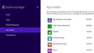 Windows 8.1: So ermitteln Sie die Apps, die Speicherplatz fressen Welche Apps befinden sich auf meinem PC? Und wie stark belasten sie ihn? Windows verrät es.©COMPUTER BILD
