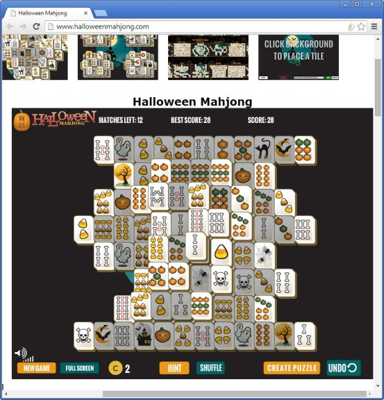 Screenshot 1 - Halloween Mahjong