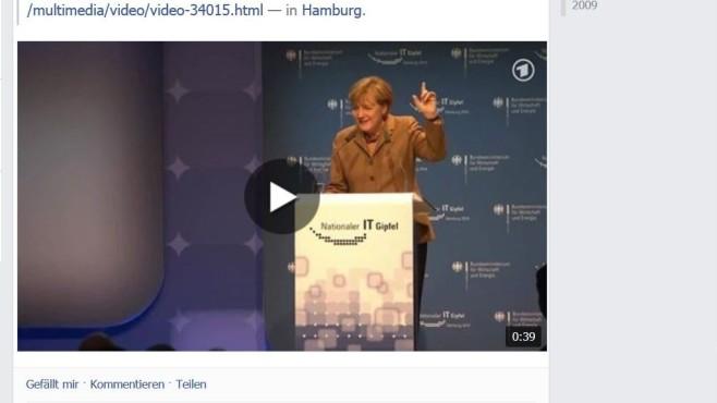 Facebook Merkel Video©COMPUTER BILD