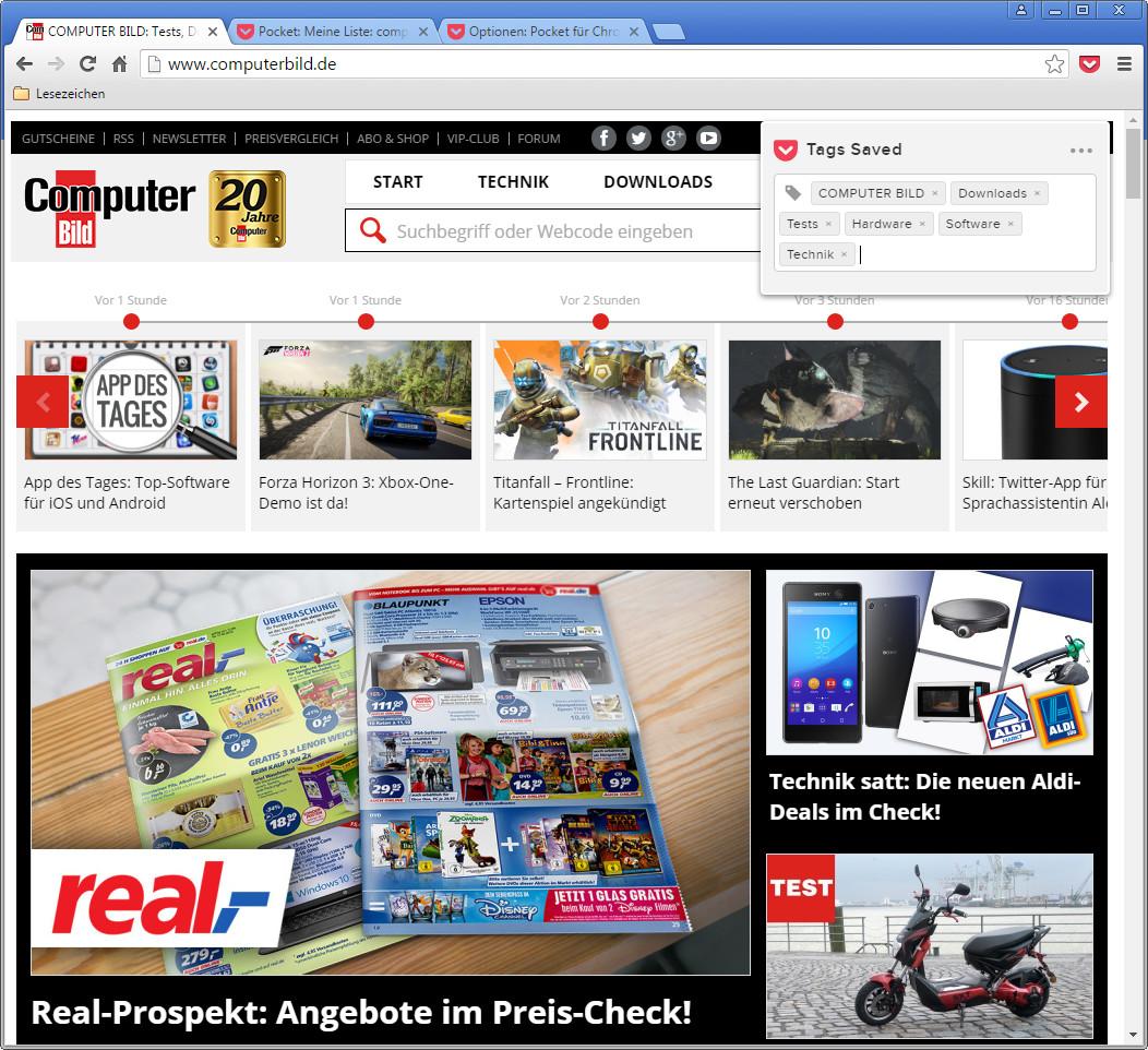 Screenshot 1 - Save to Pocket für Chrome