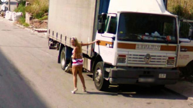 Nackte Tatsachen bei Google Street View ©Google
