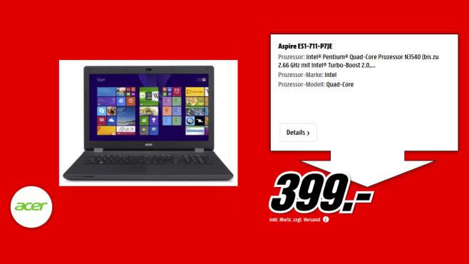 Acer Aspire ES1-711-P7JE ©Saturn