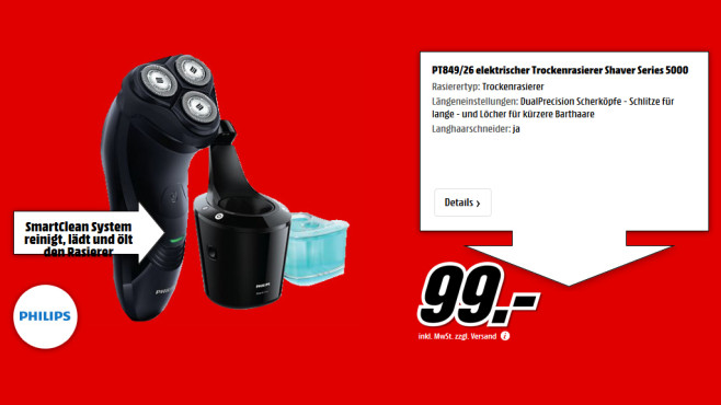 Philips PT849/26 Shaver Series 5000 ©Saturn