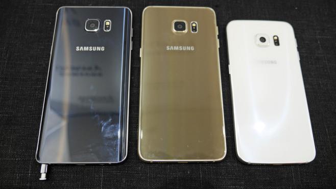Samsung Galaxy Note 5, Galaxy S6 Edge+, S6 Edge©COMPUTER BILD
