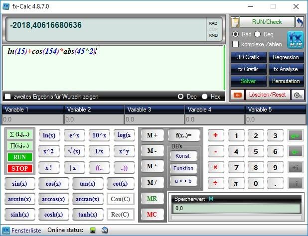 Screenshot 1 - fx-Calc