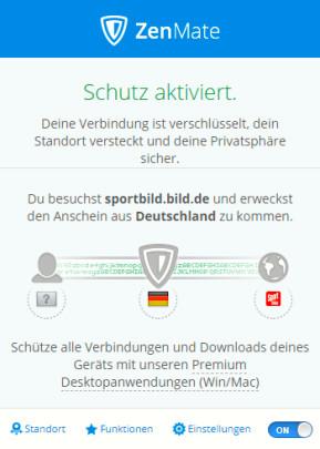 ZenMate VPN für Opera
