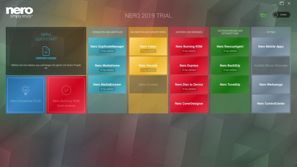 Screenshot 1 - Nero Standard