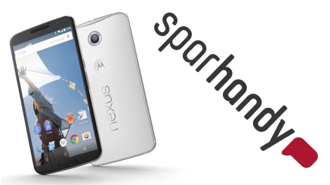 Nexus 6 mit LTE-Flatrate für nur 1 Euro©Sparhandy, Google