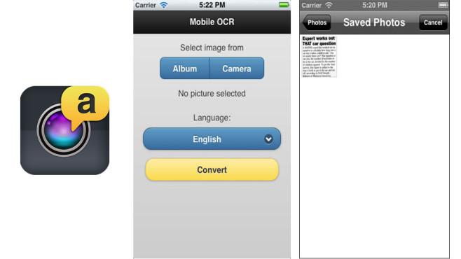 Mobile OCR Pro ©Smart Mobile Software